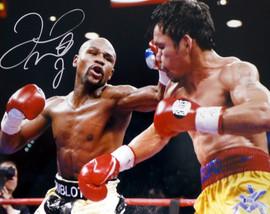 Floyd Mayweather Jr. Autographed 16x20 Photo Vs. Pacquiao Beckett BAS #I61255