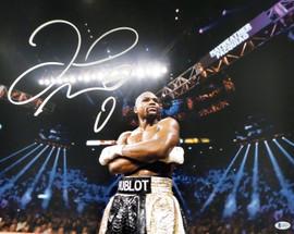 Floyd Mayweather Jr. Autographed 16x20 Photo Beckett BAS Stock #157359