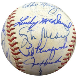 1960 St. Louis Cardinals & Chicago White Sox Autographed Official Baseball With 24 Total Signatures Including Stan Musial Beckett BAS #A52625