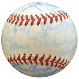 1950 Spring Training Autographed Official NL Baseball With 22 Total Signatures Including Stan Musial & Casey Stengel Beckett BAS #A52623