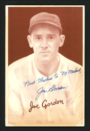 "Joe ""Flash"" Gordon Autographed 1939 Goudey Rookie Card New York Yankees ""Best Wishes"" JSA #BB31601"