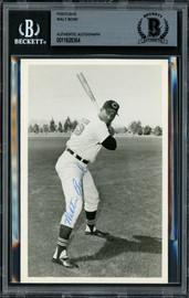 """Walter """"Walt"""" Bond Autographed 3.5x5.5 Postcard Cleveland Indians Beckett BAS #11628364"""