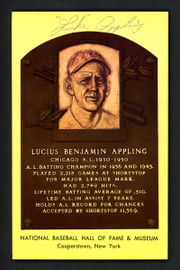 Luke Appling Autographed HOF Plaque Postcard Chicago White Sox SKU #158118