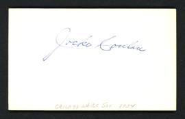 Jocko Conlan Autographed 3x5 Index Card Umpire SKU #158236