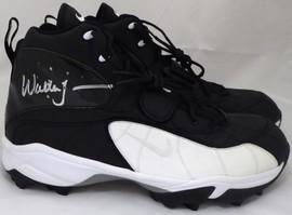 Walter Jones Autographed Nike Cleats Shoes Seattle Seahawks Black / White MCS Holo Stock #158442