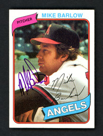 Mike Barlow Autographed 1980 Topps Card #312 California Angels SKU # 158633