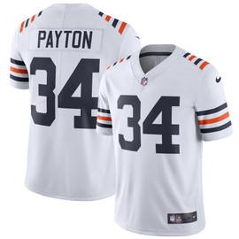 Walter Payton Unsigned Chicago Bears White Twill Nike Size M Stock #158821