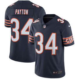 Walter Payton Unsigned Chicago Bears Blue Twill Nike Jersey Size L Stock #158824