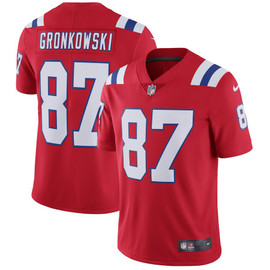 Rob Gronkowski Unsigned New England Patriots Red Twill Nike Size L Stock #158825