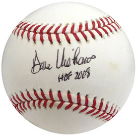 "Dave Niehaus Autographed Official MLB Baseball Seattle Mariners ""HOF 2008"" Beckett BAS #S04244"
