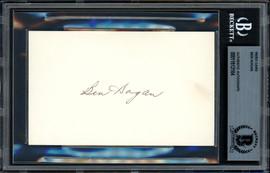Ben Hogan Autographed 3x5 Index Card Beckett BAS #11612164