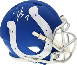 Jacoby Brissett Autographed Indianapolis Colts AMP Speed Mini Helmet Beckett BAS Stock #159165