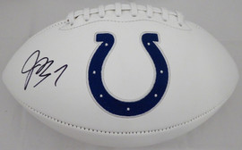 Jacoby Brissett Autographed Indianapolis Colts White Logo Football Beckett BAS Stock #159166