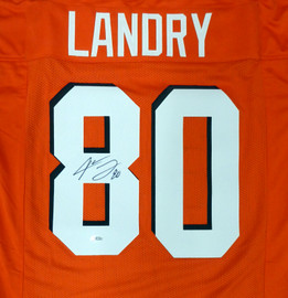 Cleveland Browns Jarvis Landry Autographed Orange Jersey Beckett BAS Stock #159185