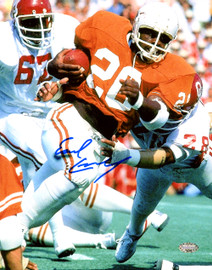 Earl Campbell Autographed 8x10 Photo Texas Longhorns MCS Holo Stock #159225