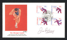 Jim Delaney Autographed First Day Cover Shot Put 1948 Olympics SKU #159550
