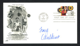 Tracy Caulkins Autographed First Day Cover Olympics SKU #159557