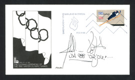 Jillian Vogtli Autographed First Day Cover 2002 & 2006 Olympics SKU #159561