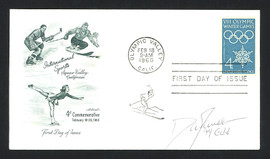 """Dan Jansen Autographed First Day Cover 1994 Olympics """"94 Gold"""" SKU #159562"""