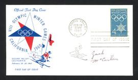 Jack McCartan Autographed First Day Cover 1960 Olympics Hockey USA SKU #159563