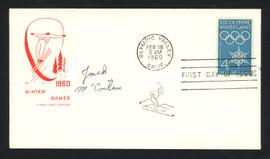 Jack McCartan Autographed First Day Cover 1960 Olympics Hockey USA SKU #159567