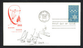 Jillian Vogtli Autographed First Day Cover 2002 & 2006 Olympics SKU #159571