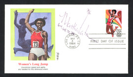 """Martha Watson Autographed First Day Cover 4 Time Olympian Long Jumper """"64, 68, 72, 76"""" SKU #159573"""