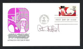 Peter Westbrook Autographed First Day Cover 1984 Olympic Fencer SKU #159574