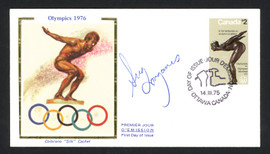 Greg Louganis Autographed First Day Cover Olympic Diver SKU #159581