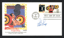 Pete George Autographed First Day Cover Olympic Weightlifter SKU #159594
