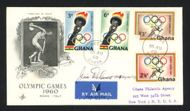 Jim Delaney Autographed First Day Cover Shot Put 1948 Olympics SKU #159605
