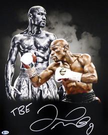 "Floyd Mayweather Jr. Autographed 16x20 Photo ""TBE"" Beckett BAS Stock #159712"