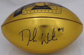 Deshaun Watson Autographed Wilson Gold Limited Edition Clemson Tigers National Champions Football (Smudged) Beckett BAS #I41472