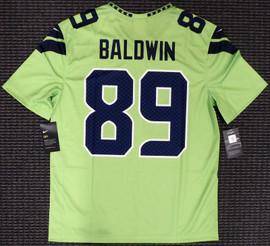 Doug Baldwin Unsigned Seattle Seahawks Action Green Nike Jersey Size M Stock #159830
