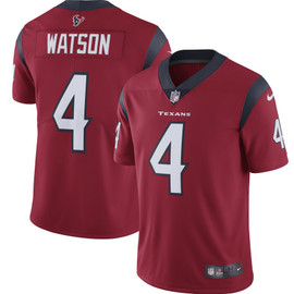 Deshaun Watson Unsigned Houston Texans Red Twill Nike Size L SKU #159866