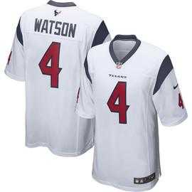 Deshaun Watson Unsigned Houston Texans White Twill Nike Size L SKU #159867