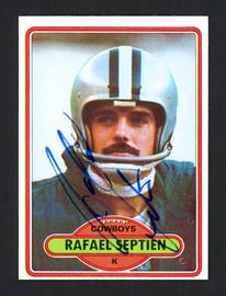 Rafael Septien Autographed 1980 Topps Card #353 Dallas Cowboys SKU #160026