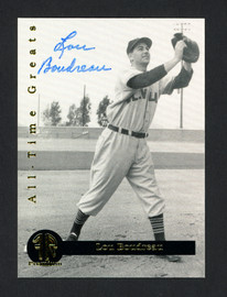 Lou Boudreau Autographed 1994 Front Row Card #1 Cleveland Indians SKU #160074