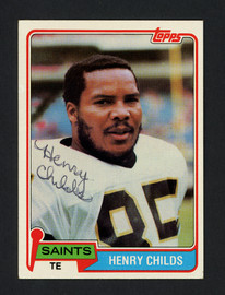 Henry Childs Autographed 1981 Topps Card #126 New Orleans Saints SKU #160236