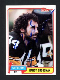 Randy Grossman Autographed 1981 Topps Card #256 Pittsburgh Steelers SKU #160264