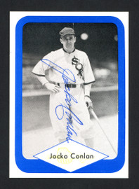 Jocko Conlan Autographed 1975 Great Plains Great Card #3 Chicago White Sox SKU #160435