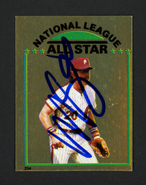 Mike Schmidt Autographed 1981 Topps Sticker Card #254 Philadelphia Phillies SKU #160485