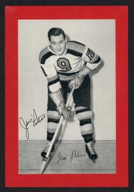 Jim Peters Autographed 1944-63 Beehive 4.5x6.5 Photo Boston Bruins SKU #160642
