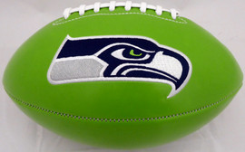 Unsigned Seattle Seahawks Green Logo Football Stock #160613