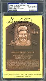 "Gary Carter Autographed HOF Plaque Postcard Montreal Expos ""HOF 2003"" PSA/DNA #31669548"