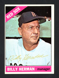 Billy Herman Autographed 1966 Topps Card #37 Boston Red Sox SKU #161683