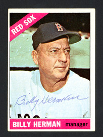 Billy Herman Autographed 1966 Topps Card #37 Boston Red Sox SKU #161684