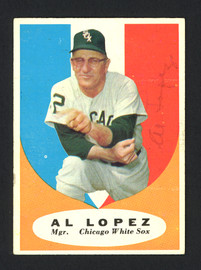 Al Lopez Autographed 1961 Topps Card #132 Chicago White Sox SKU #161739