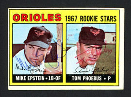Mike Epstein & Tom Phoebus Autographed 1967 Topps Rookie Card #204 Baltimore Orioles SKU #161917