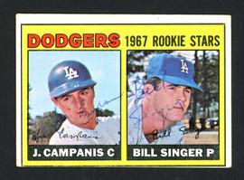 Jim Campanis & Bill Singer Autographed 1967 Topps Rookie Card #12 Los Angeles Dodgers SKU #161918